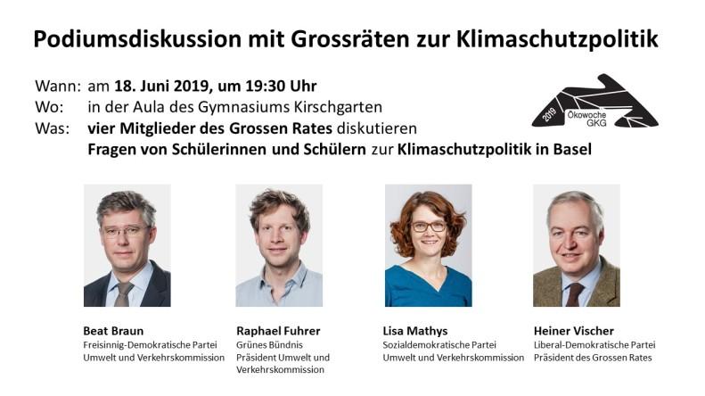 18. Juni Podiumsdiskussion mit Grossräten Klimaschutzpolitik in Basel - Kopie